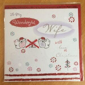 039-Wonderful-Wife-039-3D-Christmas-Card-6-034-x6-034-Xmas-Glitter