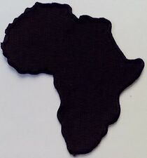 Shaped Flag Africa 046-P African Map Embroidered Iron On Patch