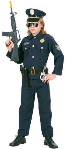 Jungen Karneval Fasching Verkleidung Kost Police Officer Matt Kinderkostüm NEU