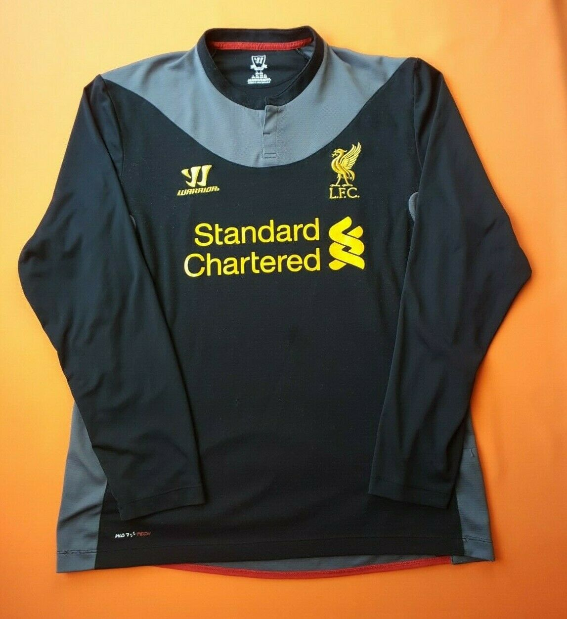 4.4 5 Liverpool jersey large 2012 2013 shirt long sleeve soccer Warrior ig93