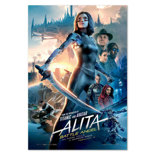 High Quality Prints Alita Battle Angle Movie Poster Official Art
