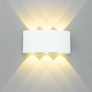 LED Wandleuchte Wandlampe Gartenlampe Wasserdicht Badleuchte Aussenlampe 6W NEU