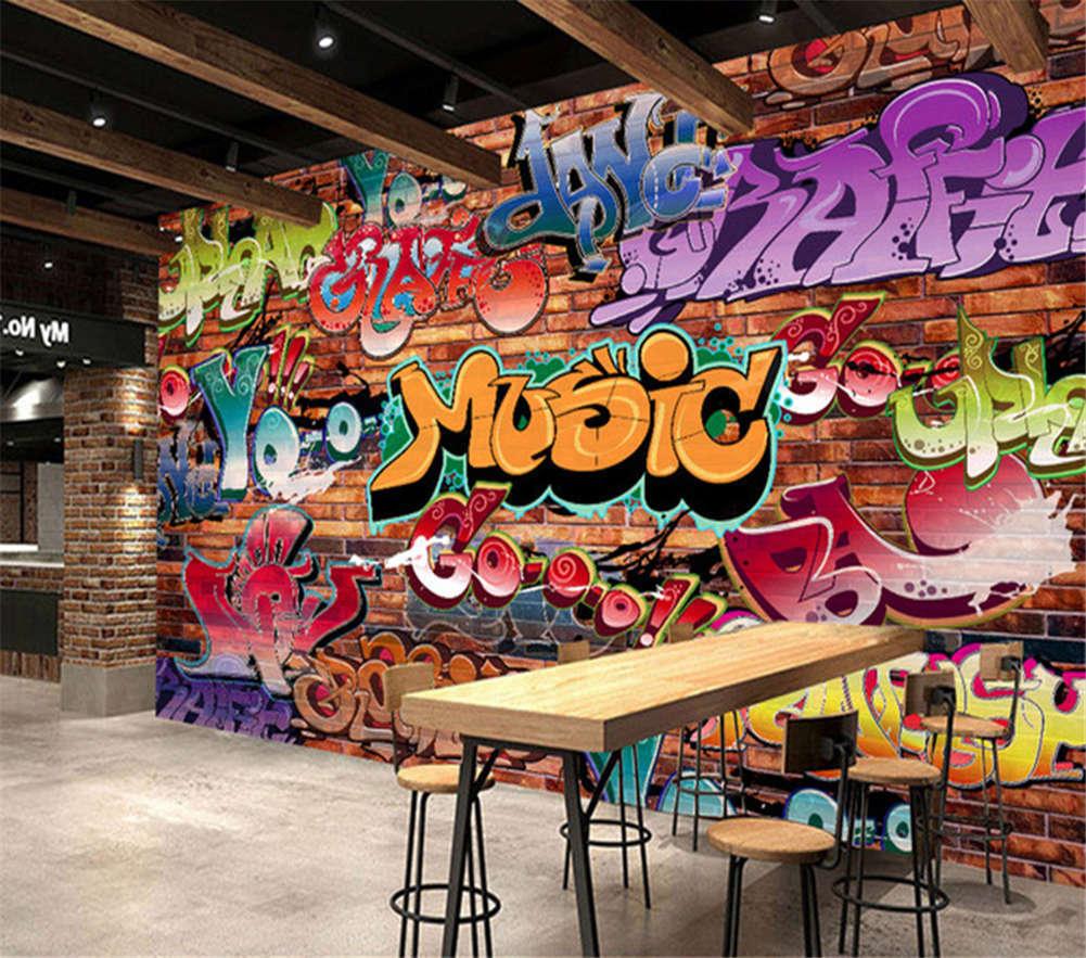Farbeful Letters 3D Full Wall Mural Photo Wallpaper Printing Home Kids Decor