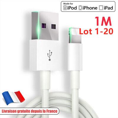 CABLE CHARGEUR 1 METRE CONNECTEUR IPHONE 6S 6 7 8 PLUS SE 5