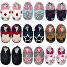 *SECONDS* SOFT LEATHER BABY SHOES - SUEDE SOLE - VARIOUS DESIGNS