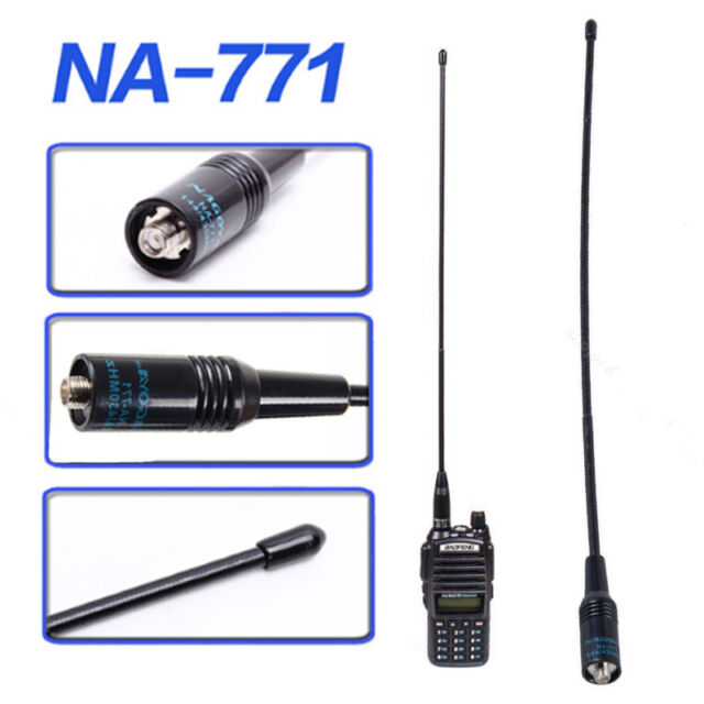 UV5R UV-82 144//430MHz Dual Band Antenna NA-771 SMA Female Nagoya For Baofeng