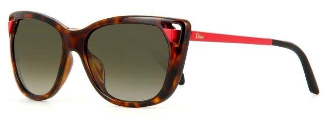 488dff407eb12 New Christian Dior Chromatic 1 6LYHA Sunglasses Havana Authentic Brown Lens