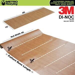 3m Di Noc Walnut Wood Grain Vinyl Wrap Sheet Film Sticker