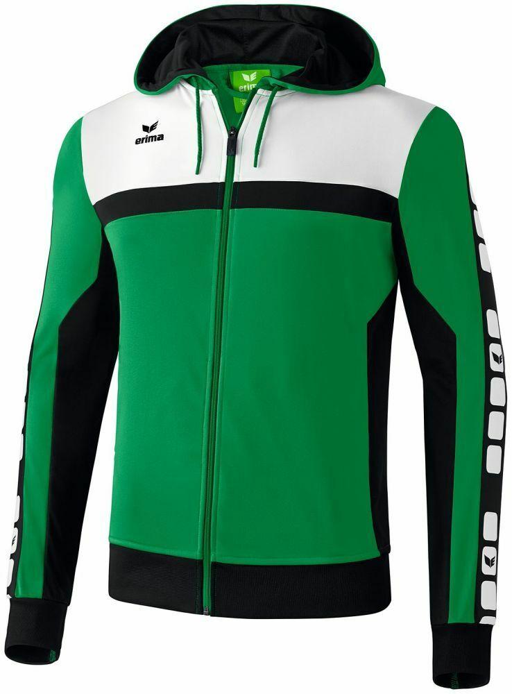 Erima sport Footbtutti Soccer uomini Training Hooded Full Zip Jacket Tracksuit Top