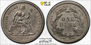 1873 CC Seated Liberty Dime W/ Arrows PCGS VF Detail Rare under 100 PCGS Graded