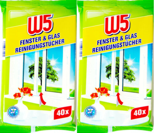 W5 Fenster /& Glas Reinigungstücher 80 Stueck