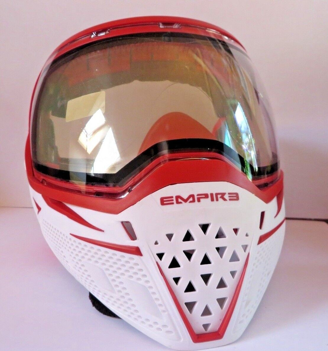 Empire EVS Paintball Goggle System Weiß ROT Weiß rot