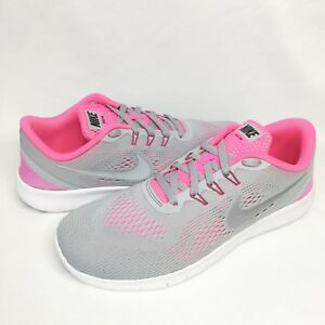 6c17fe5eef6d Image is loading Nike-Free-Run-Running-Shoes-Grey-Pink-Size-