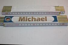 Zollstock mit  NAMEN    MICHAEL   Lasergravur 2 Meter Handwerkerqualität