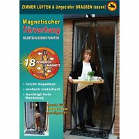 Moskitonetz mit Magnetverschluss Fliegennetz Fliegen Gitter Vorhang Tür 100x210