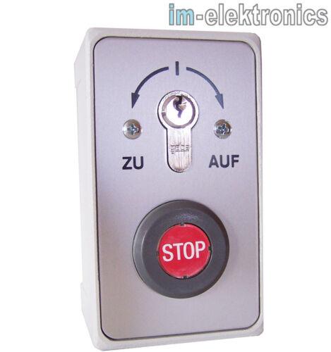 bouton stop porte de Garage Portail propulsion AP Clé Interrupteur Clé Palpeur à sur