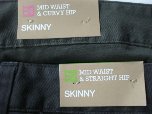 New MOSSIMO Stretch Skinny Cargo Pants Women Sz Utility Ankle Olive Gray Fit 3 4