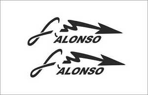 "aufkleber ARROW /""FLECHA F Vinilo adhesivo ALONSO/"" X2 decal vinyl sticker"