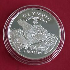 COOK ISLANDS 1996 OLYMPIC NATIONAL PARK $2 SILVER PROOF