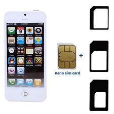 3X NANO SIM KARTEN ADAPTER MICRO SIMADAPTER SUIT FÜR SIM iPhone 6S 6 5S 5C HANDY