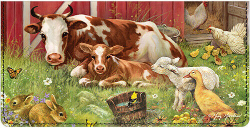 Barnyard Babies Leather Cover for Duplicate Checks