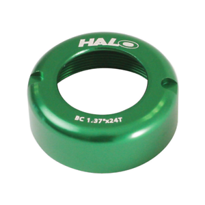 Halo Fix-T Track Fixed Gear Bike Hub Threading Cover Alloy GREEN 1.37x24TPI