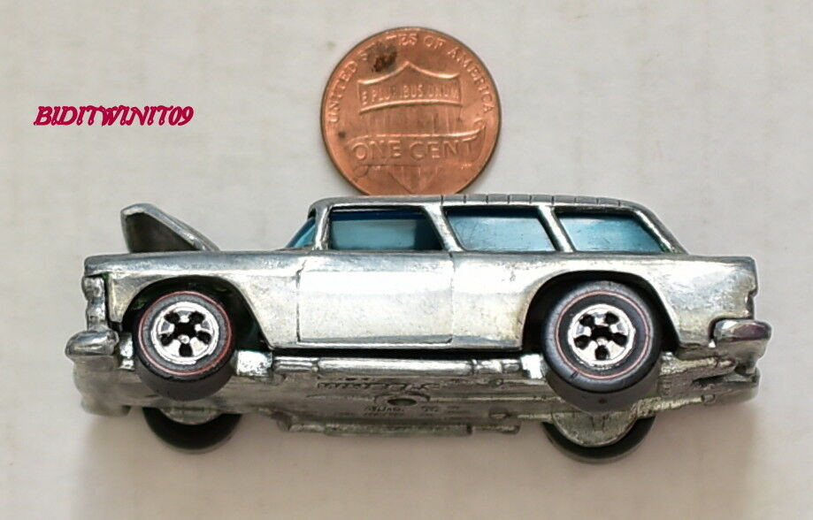HOT WHEELS 1969 REDLINE ALIVE 55 NOMAD HONG KONG CHROME LOOSE W+