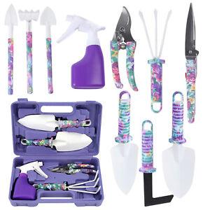 Garden Tool Set Gardening Hand Tool Kit Trowel Rake Weeder Pruner Shears 5/10pcs