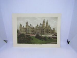 Old-vintage-antique-colour-print-Glasgow-art-galleries-Scotland-27-x-19-cm