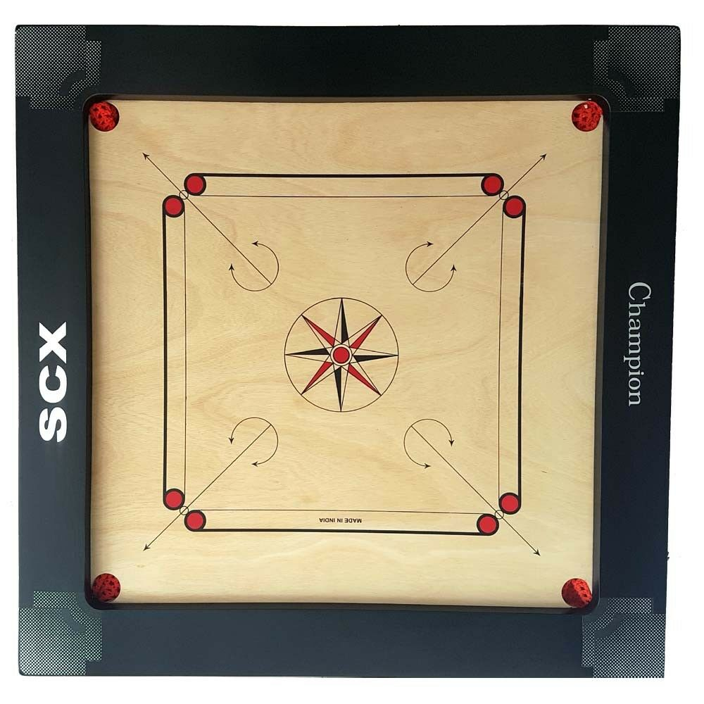 PRO CARROM BOARD GAME CHAMPION 12MM 12MM 12MM FULL SIZE WITH WOOD 333-POGH 610a55
