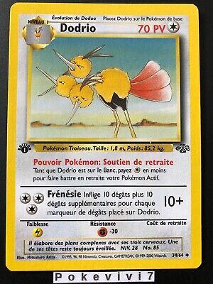 Mint Dschungel 2000-1.Edition Uncommon Dodri 34//64 Deutsch Pokemon