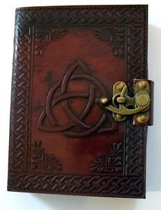Triquetra-Pattern-Leather-Bound-Book-of-Shadows-Journal-Diary