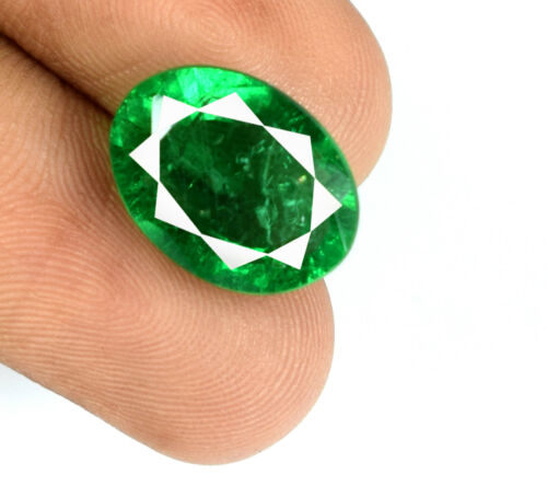 Zambian Green Emerald Gemstone Natural Oval 6-8 Ct VS Clarity AGSL Certified