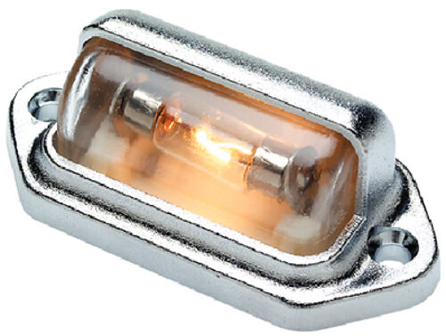 Chrome Plated Plastic Fixed Mount Courtesy Accent and Utility Light for Boats