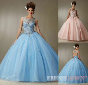 Wedding-Quinceanera-Dress-Bridesmaid-Pageant-Prom-Party-Ball-Bridal-Gown-Custom