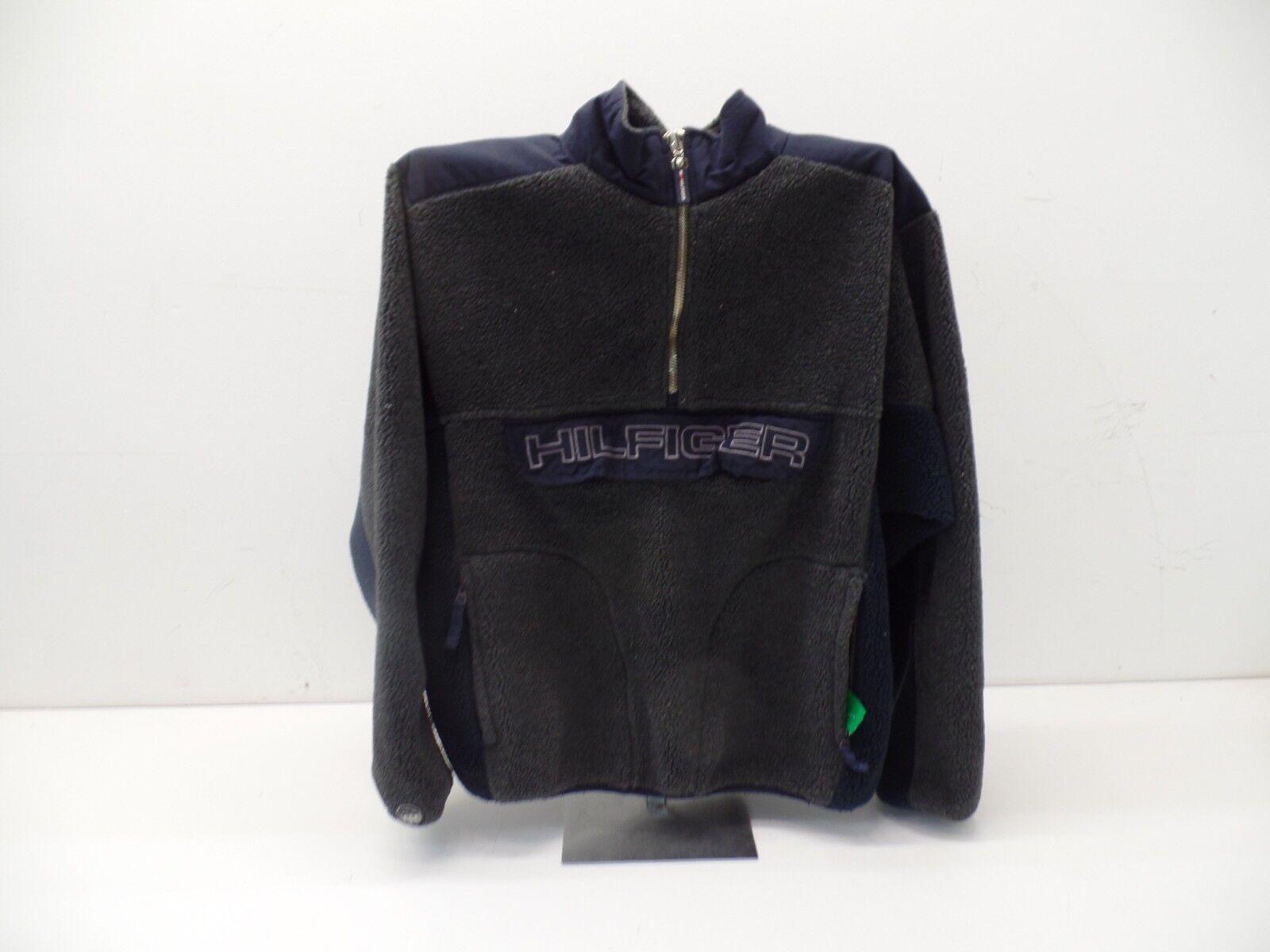 Vintage Tommy Hilifiger 1/4 Zip Fleece Pullover -- Navy/grau -- Medium