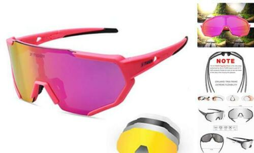 Polarized Cycling Bike Sunglasses,Bicycle Glasses with 3 Interchangeable Lenses