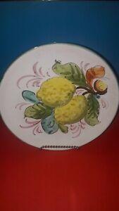 Piatto-decorativo-Caltagirone-vintage-ceramica-da-muro-agrumi-limoni
