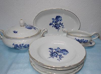 Hutschenreuther Selb Novum 65 blau Kobalt diverse Teile zur Auswahl
