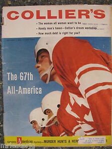 Collier's Magazine December 7,1956  The 67th All-America  VINTAGE ADS