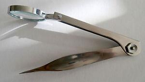 Pinzette-mit-Lupe-Splitterpinzette-Neu-zeken-Pinzette
