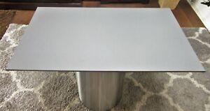 HPL Platte Tischplatte 8mm Mid Grey beidseitig 926 x 546 mm TRESPA® Meteon®