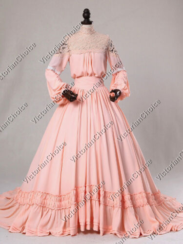 Victorian Dresses | Victorian Ballgowns | Victorian Clothing    Victorian Edwardian Vintage Wedding Dress Bridal Gown Theater Prom Wear N 388 $225.00 AT vintagedancer.com