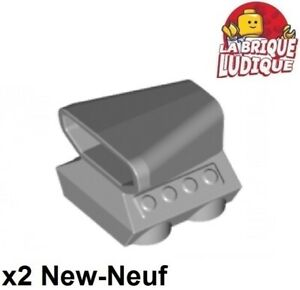 Lego 2x vehicle voiture prise d'air scoop turbo gris/light bluish gray 50943 NEW