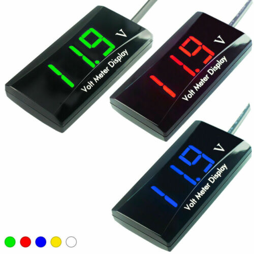 Mini 12V Digital LED Display Voltmeter Voltage Gauge Panel Meter Volt Monitor