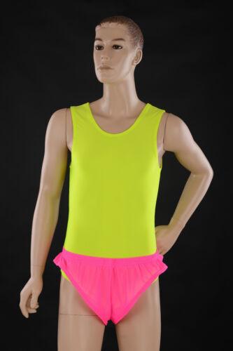 Home Made Mens Camp Gym Sports Sheer Fluro Pink Poly Lycra Mesh Xtreme Shorts