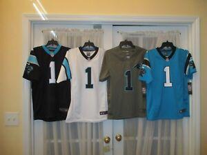 Brand New Cam Newton  1 Carolina Panthers YOUTH S-M-L-XL Nike Jersey ... 37731ef70
