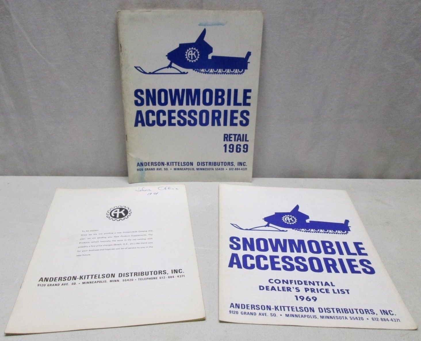 Vintage Anderson Kittelson Snowmobile Accessories Catalog 1969 Price  List etc...  high-quality merchandise and convenient, honest service
