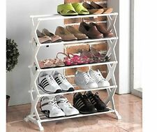 15 Pairs New 5 Tier Foldable X Shaped Shoe Rack  - As seen on TV