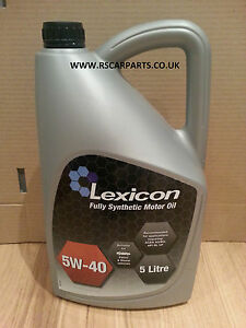 lexicon 5w40 fully synthetic engine oil 5 litres motor oil. Black Bedroom Furniture Sets. Home Design Ideas